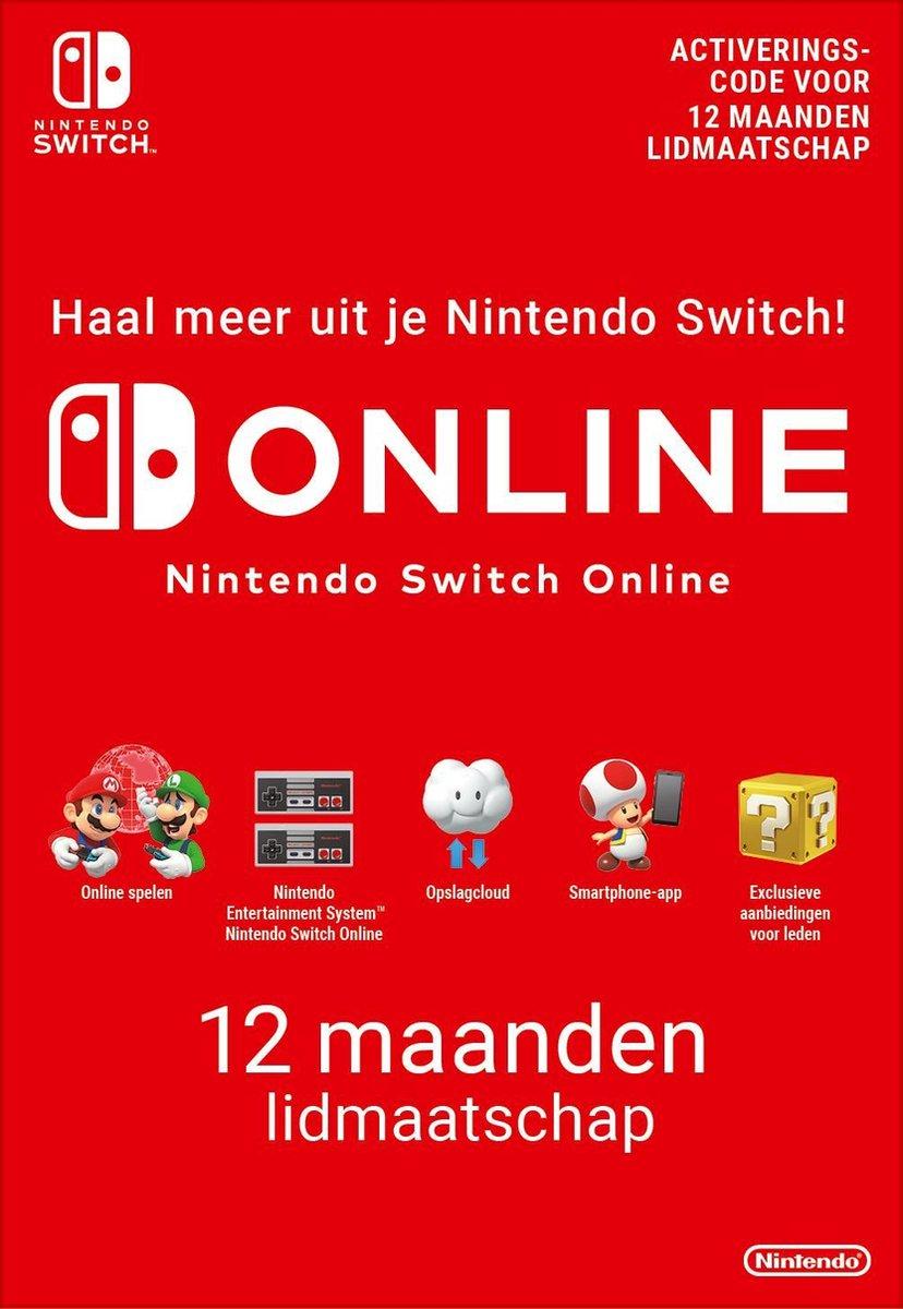 12 maanden Online Lidmaatschap - Nintendo Switch Download