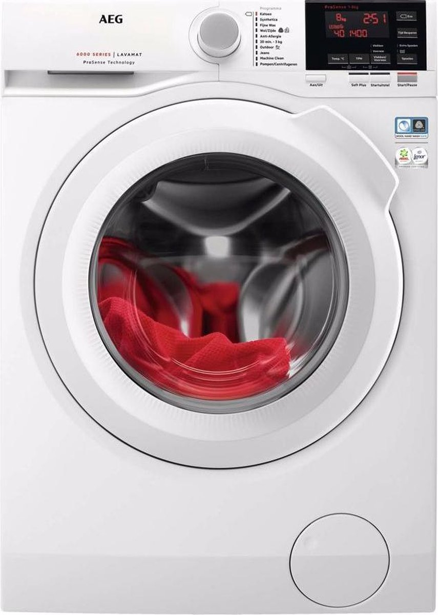 AEG L6FBN84GP - Wasmachine