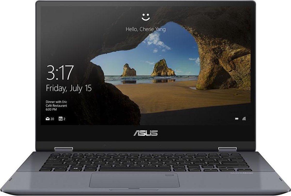 "ASUS VivoBook Flip TP412FA-EC419T-BE Hybride (2-in-1) Grijs 35,6 cm (14"") 1920 x 1080 Pixels Touchscreen Intel® 10de generatie Core™ i3 4 GB DDR4-SDRAM 128 GB SSD Wi-Fi 5 (802.11ac) Windows 10 Home S"