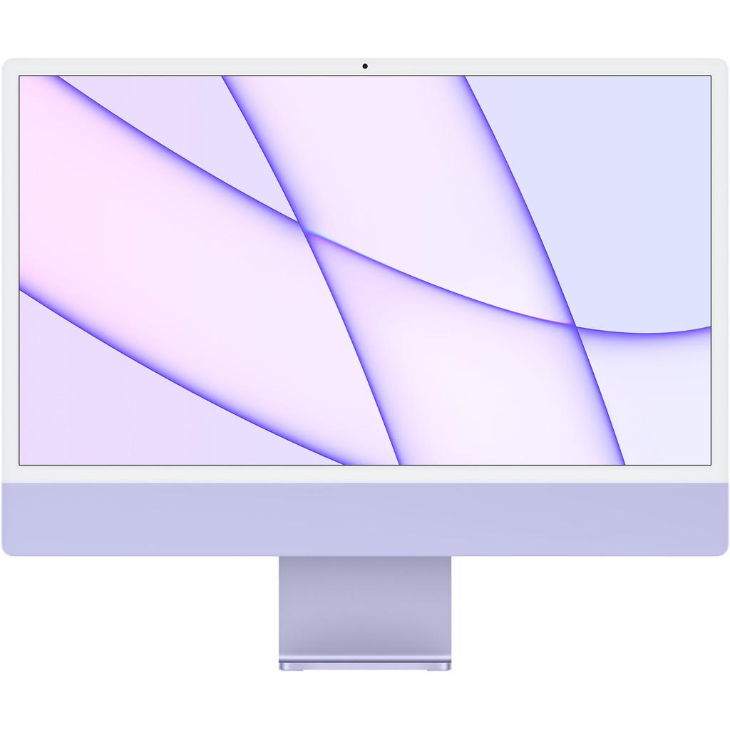 "Apple iMac 24"" (2021) 8GB/256GB Apple M1 met 8 core GPU Paars AZERTY"