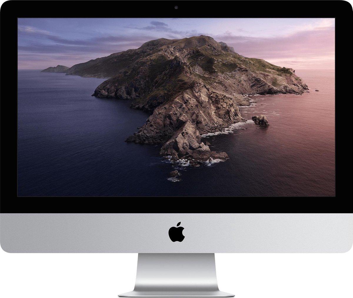"Apple iMac 54,6 cm (21.5"") 1920 x 1080 Pixels Zevende generatie Intel® Core™ i5 8 GB DDR4-SDRAM 256 GB SSD macOS Catalina 10.15 Wi-Fi 5 (802.11ac) Alles-in-één-pc Zilver"