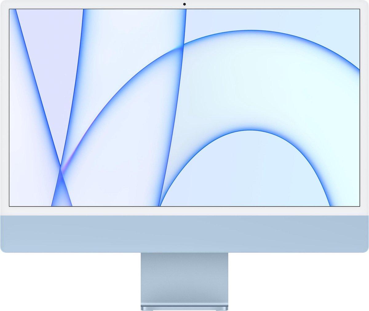 """Apple iMac 61 cm (24"""") 4480 x 2520 Pixels Apple M 8 GB 512 GB SSD Alles-in-één-pc macOS Big Sur Wi-Fi 6 (802.11ax) Blauw"""