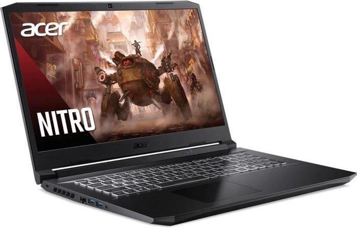 Gaming Laptop PC - ACER Nitro AN517-41-R97A - 17.3 FHD 144Hz - Ryzen 7 5800H - 16 GB - Opslag 1 TB SSD - RTX 3070 - W10 - AZERTY