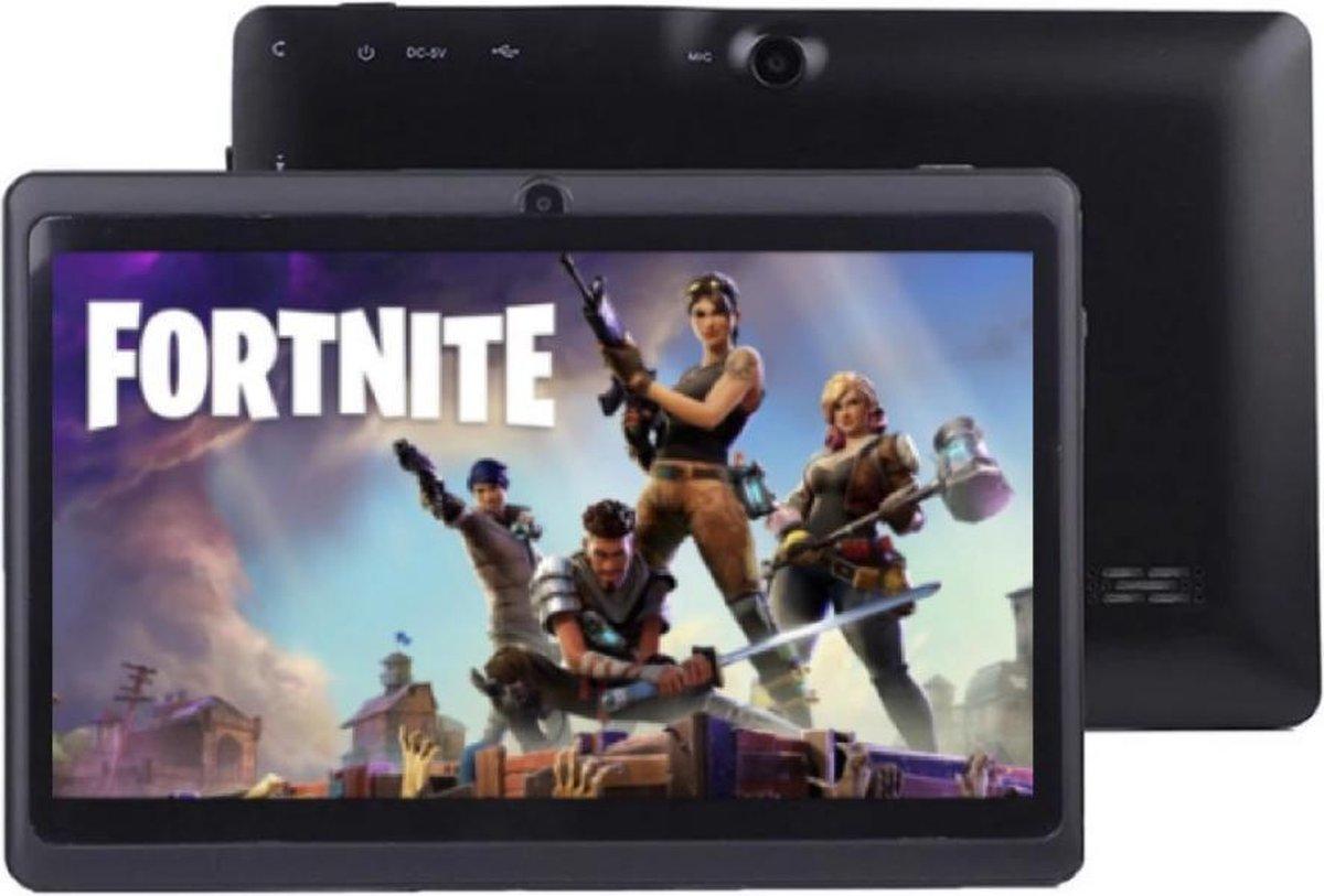 Kindertablet - 7 inch - Zwart - 16 GB - Android 10.0 - Camera voor & achter - tablet - tablethouder - inclusief gratis tablethoes - gratis screenprotector