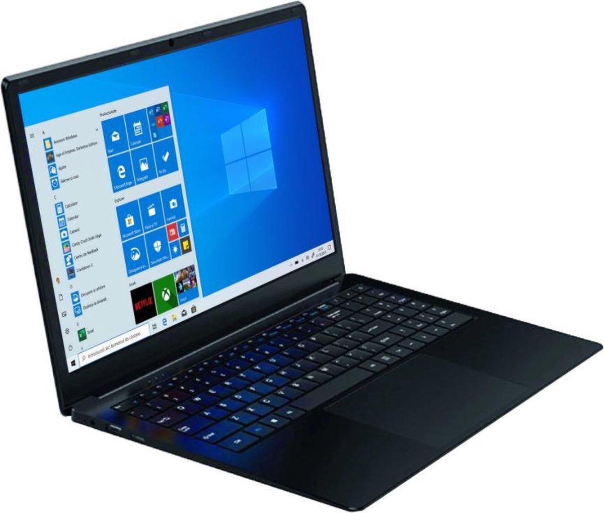 "Legend One laptop - Intel Dual Core - 4GB - 128GB SSD (64SSD-64MMC) - 14.1"" Full HD (1920x1080) - Mini-HDMI - Windows 10 - AZERTY Toetsenbord (Belgisch)"