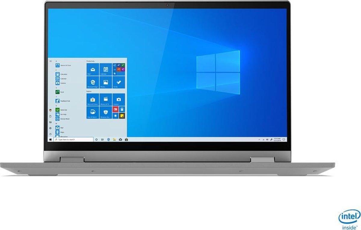 "Lenovo IdeaPad Flex 5 Hybride (2-in-1) 35,6 cm (14"") 1920 x 1080 Pixels Touchscreen Intel® 11de generatie Core™ i7 16 GB DDR4-SDRAM 512 GB SSD Wi-Fi 6 (802.11ax) Windows 10 Home Grijs"