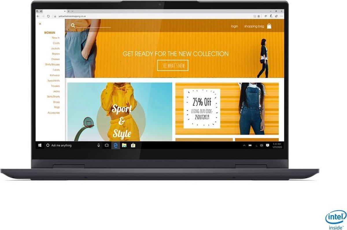 "Lenovo Yoga 7 DDR4-SDRAM Hybride (2-in-1) 35,6 cm (14"") 1920 x 1080 Pixels Touchscreen Intel® 11de generatie Core™ i7 16 GB 1000 GB SSD Wi-Fi 6 (802.11ax) Windows 10 Home Grijs"
