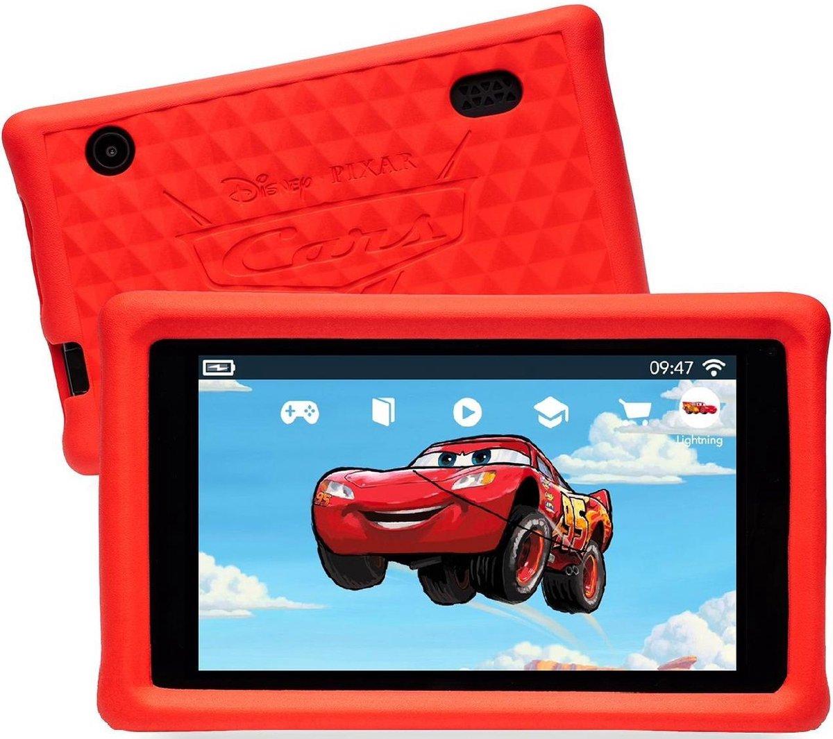 Pebble Gear Kinder Tablet Disney Cars Set Draagtas - 7 inch - 1GB - Android 8.1- 500 games - Ouderlijke controle