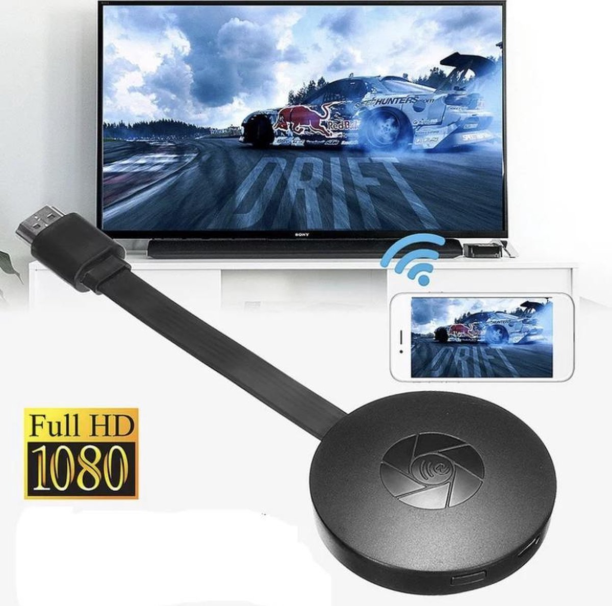 Wifi HDMI Dongle - Surround sound support - HD video streaming - Mediaplayer - 1080P - Tv stick