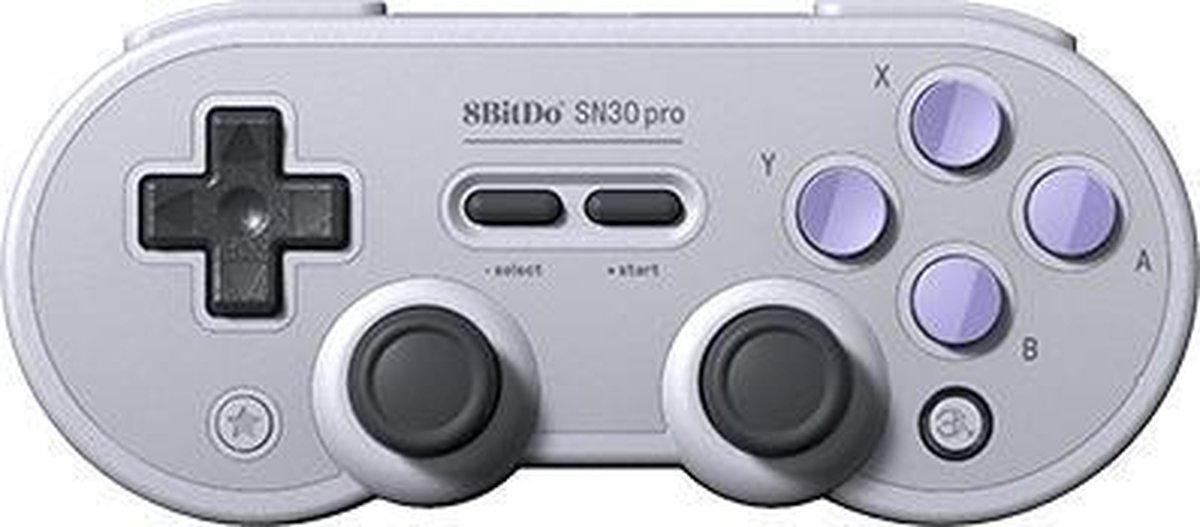8Bitdo SN30 Pro Gamepad Android,Mac,Nintendo Switch,PC Analoog/digitaal Bluetooth/USB Grijs