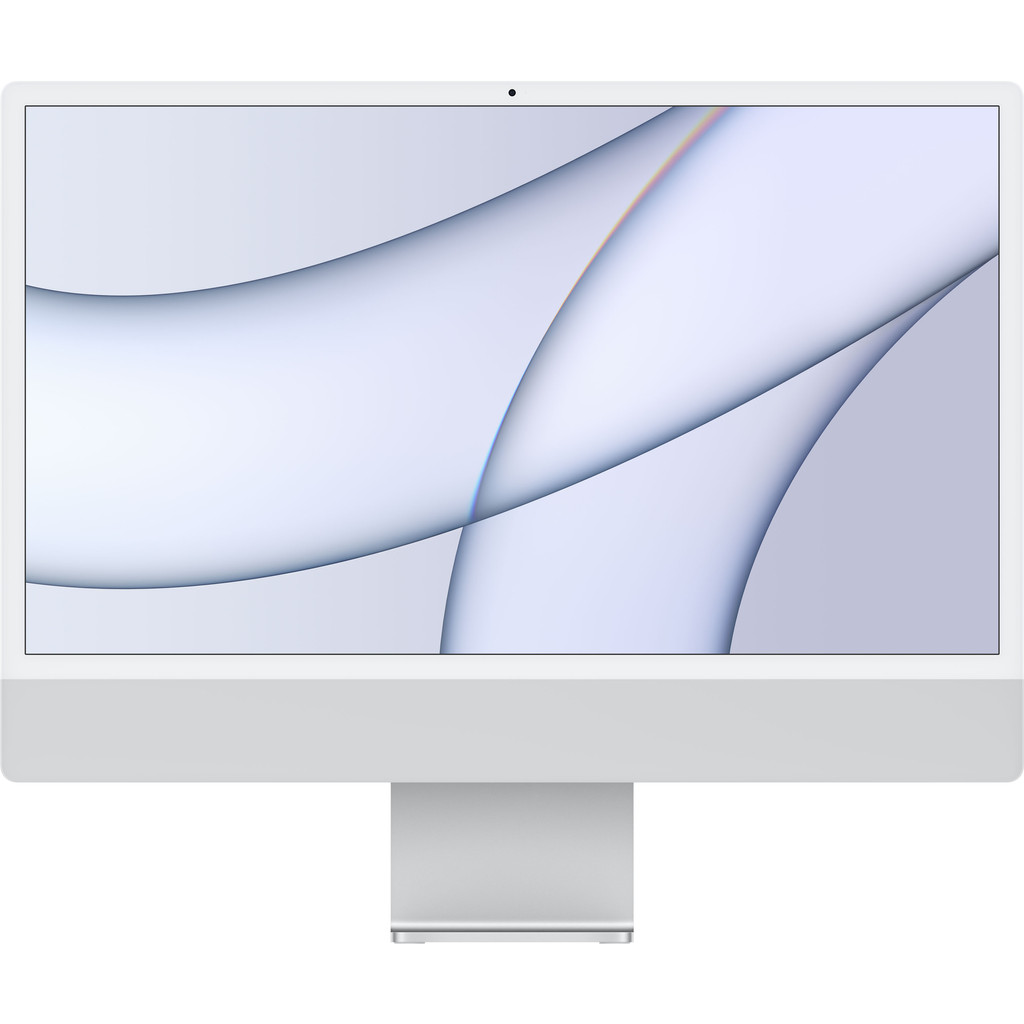 "Apple iMac 24"" (2021) 16GB/256GB Apple M1 met 7 core GPU Zilver AZERTY"