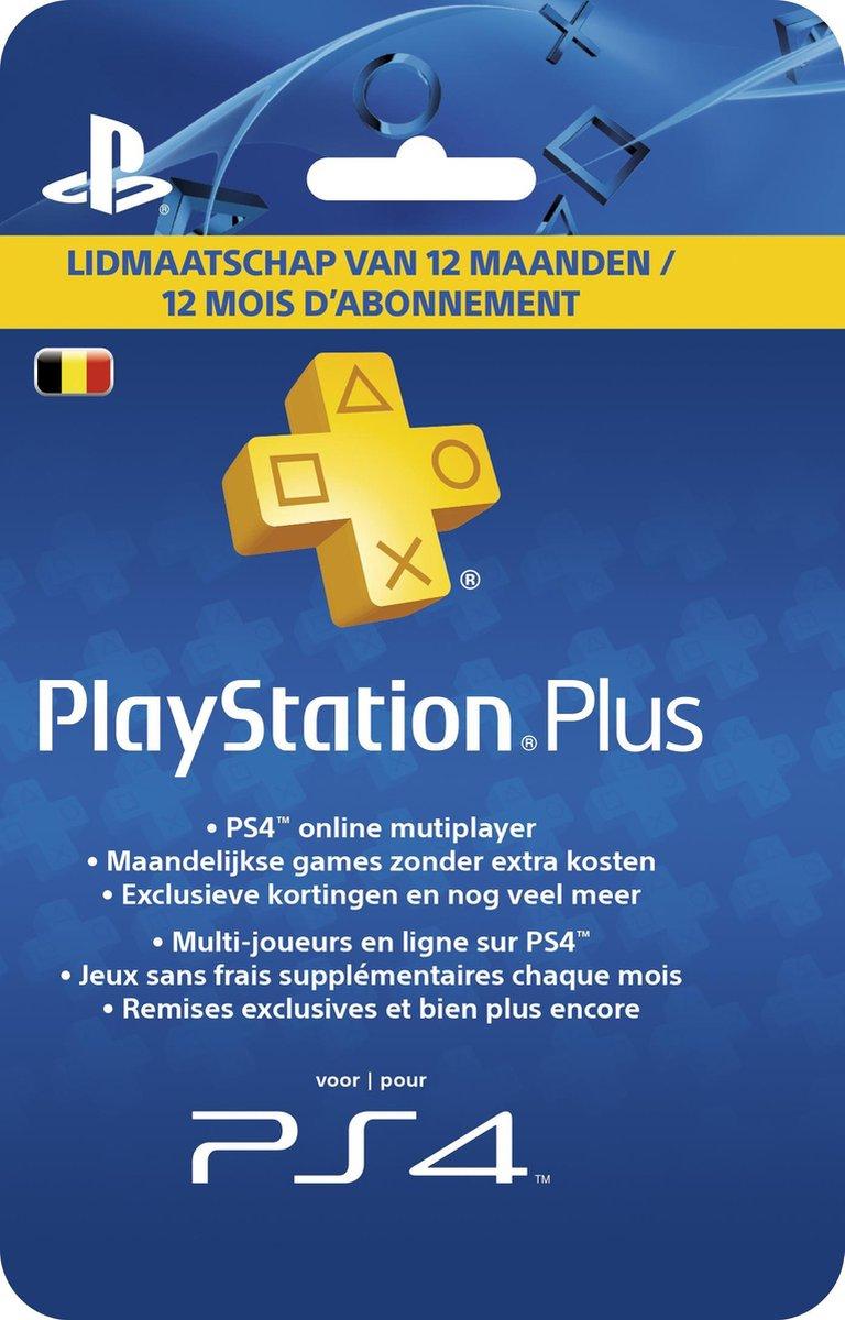 Belgisch Sony PlayStation Plus Abonnement 365 Dagen - België - PS4 + PS3 + PS Vita + PSN