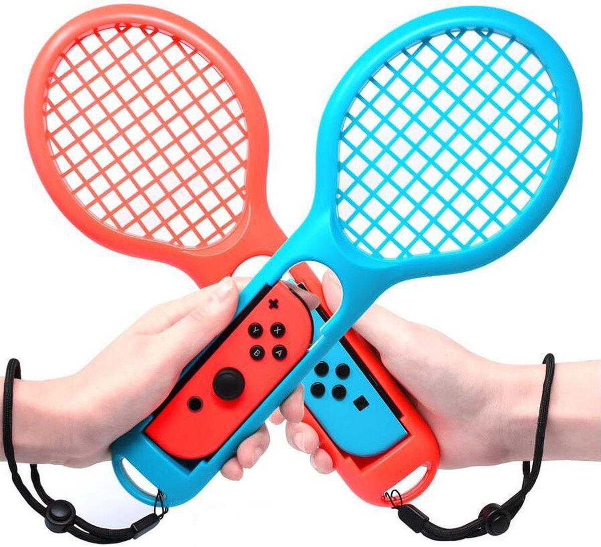 Dobe - Nintendo Switch OLED - Joy-Con Tennis Rackets Accessoire Rood Blauw