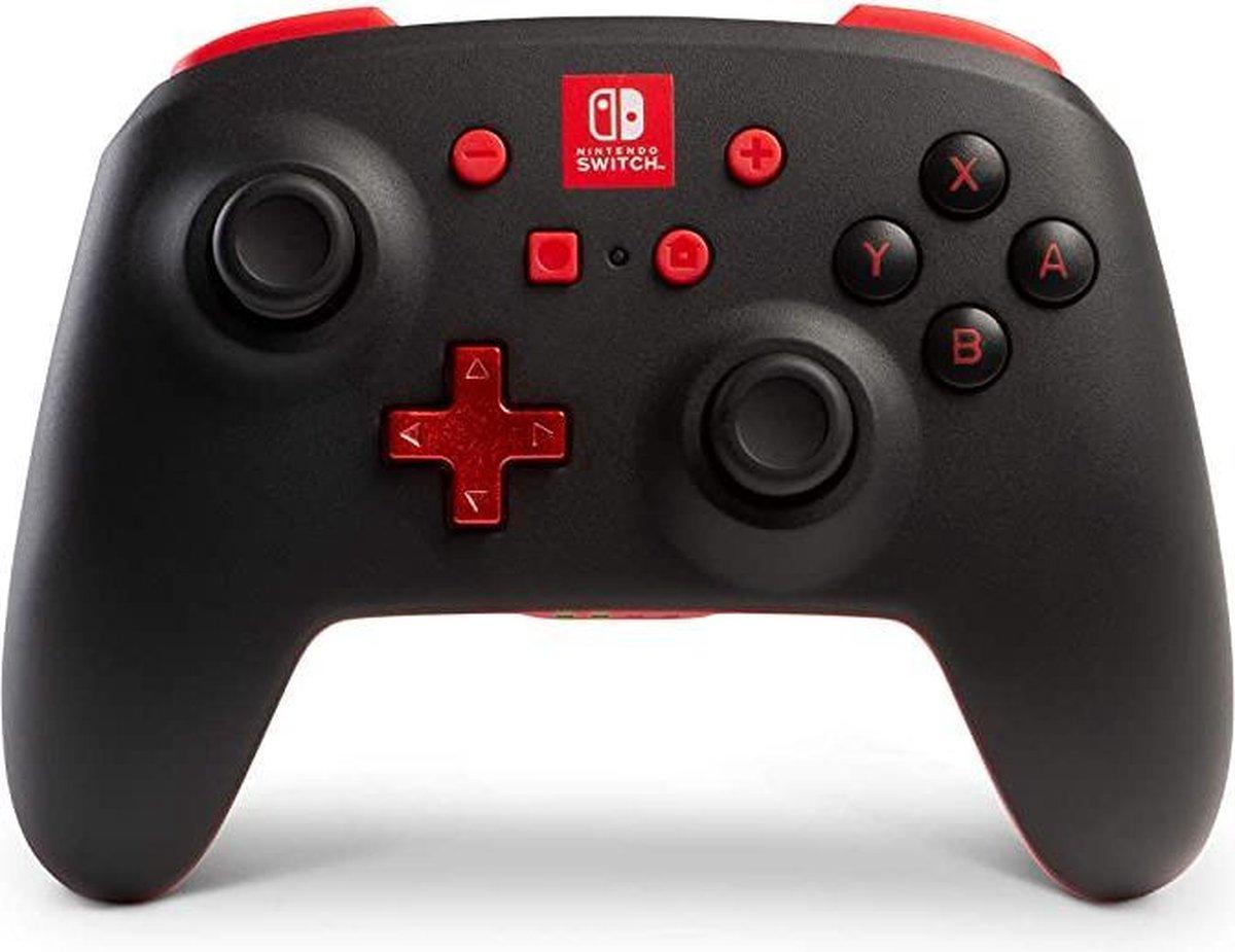 Draadloze PowerA Nintendo Switch controller Switch pro controller Zwart met rood