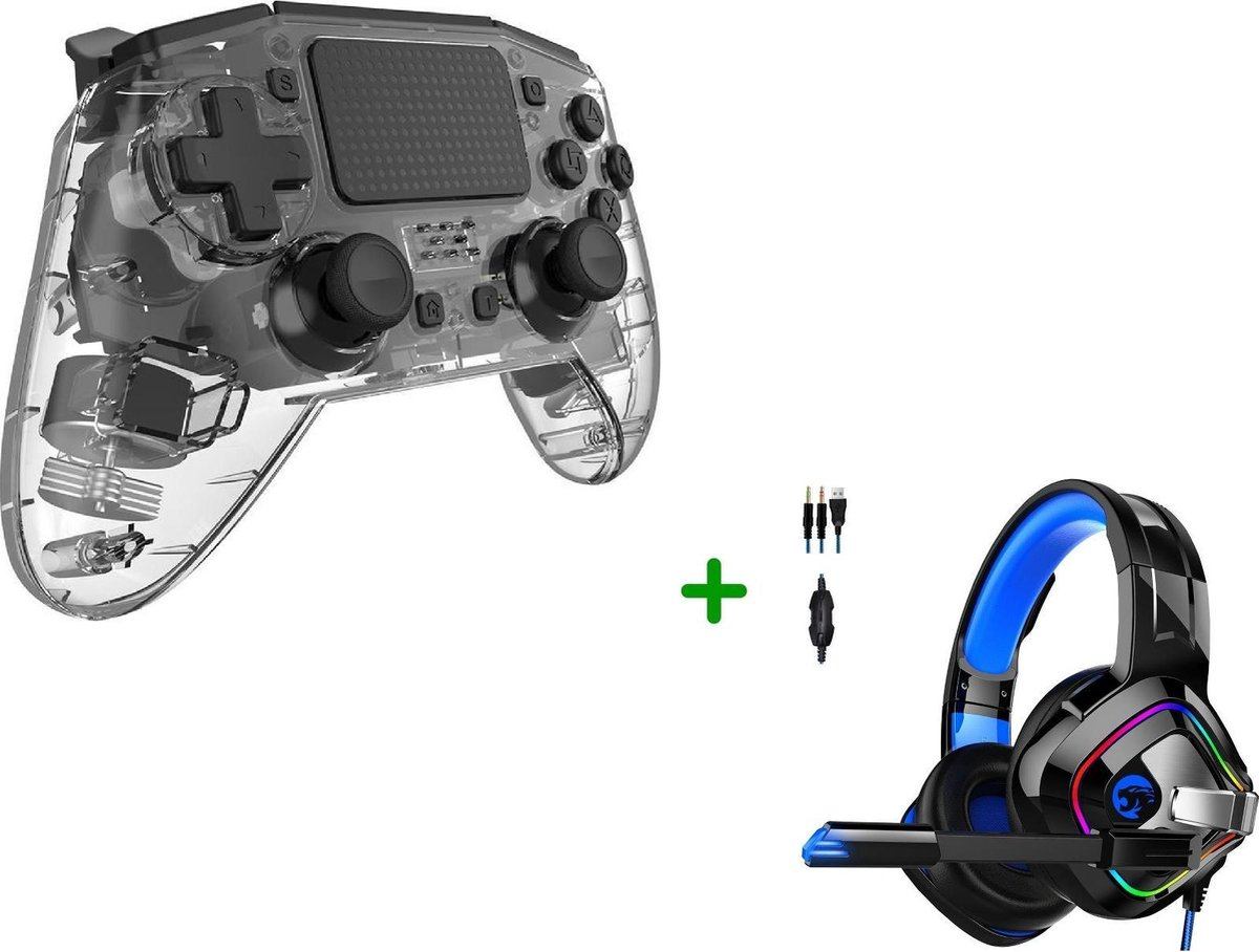Draadloze Vervangende Dualshock Controller - Geschikt voor PS4 - Wit