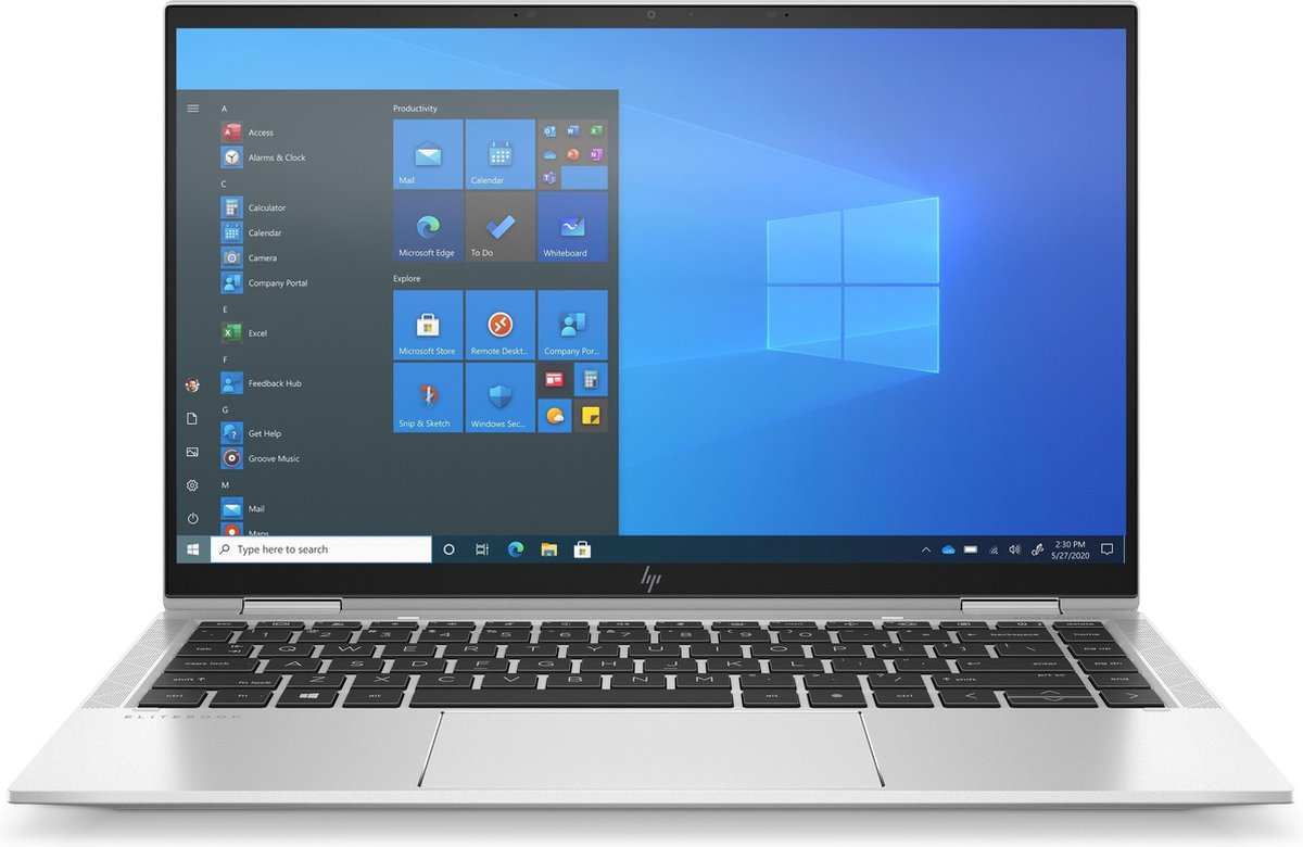 """HP EliteBook x360 1040 G8 Hybride (2-in-1) 35,6 cm (14"""") Touchscreen Full HD Intel® 11de generatie Core™ i5 8 GB LPDDR4x-SDRAM 512 GB SSD Wi-Fi 6 (802.11ax) Windows 10 Pro Zilver"""