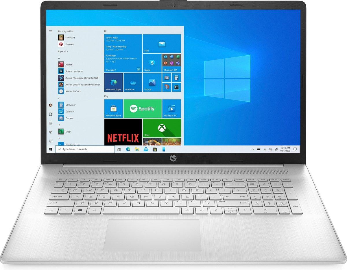 HP PC Laptop 17-cn0331nf - 17 - Intel core i3-1115G4 - 8 GB RAM - 1TB opslag + 128 GB SSD - Windows 10