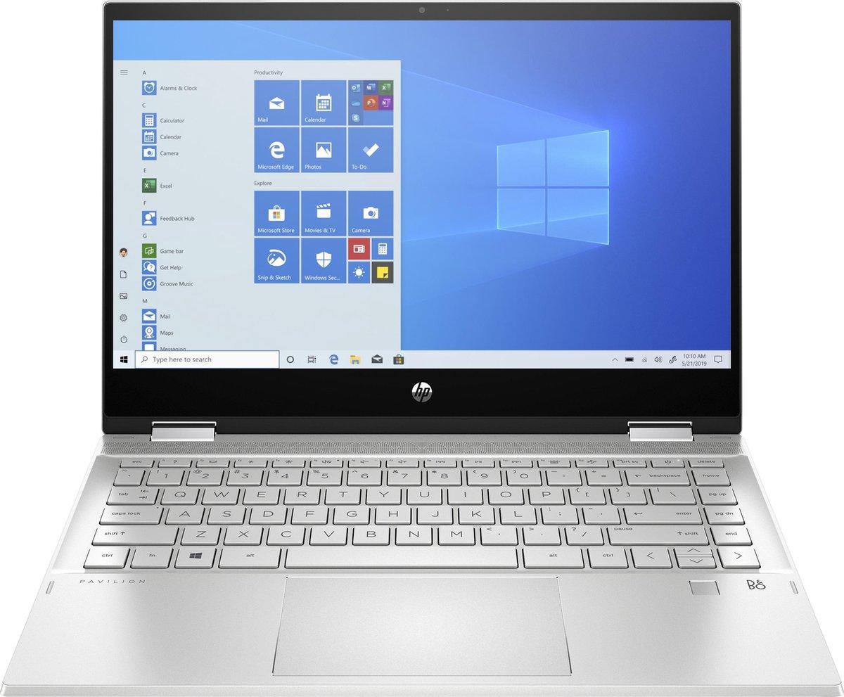 """HP Pavilion x360 14-dw0125nd DDR4-SDRAM Hybride (2-in-1) 35,6 cm (14"""") 1920 x 1080 Pixels Touchscreen Intel® 10de generatie Core™ i5 8 GB 256 GB SSD Wi-Fi 5 (802.11ac) Windows 10 Home Zilver"""