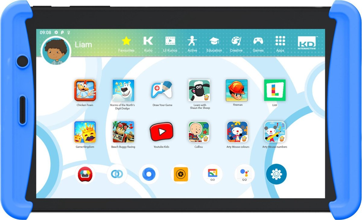 Kurio Tab Lite 2 (2021) - 7 inch - Kindertablet - 16GB - Blauw
