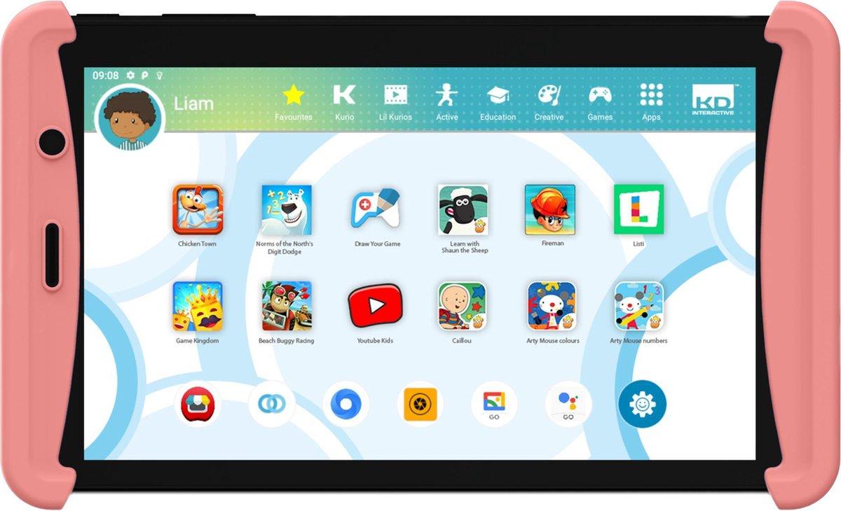 Kurio Tab Lite 2 (2021) - 7 inch - Kindertablet - 16GB - Roze