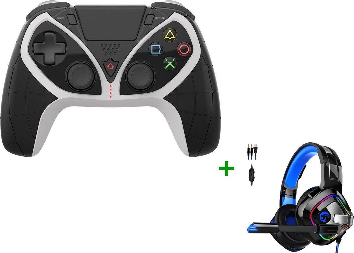 MOJO PS4 Controller Draadloos met Paddles + Gaming Headset met Microfoon voor PS4