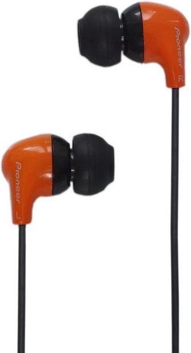 Pioneer SE-CL501 - In-ear koptelefoon - Oranje/Zwart