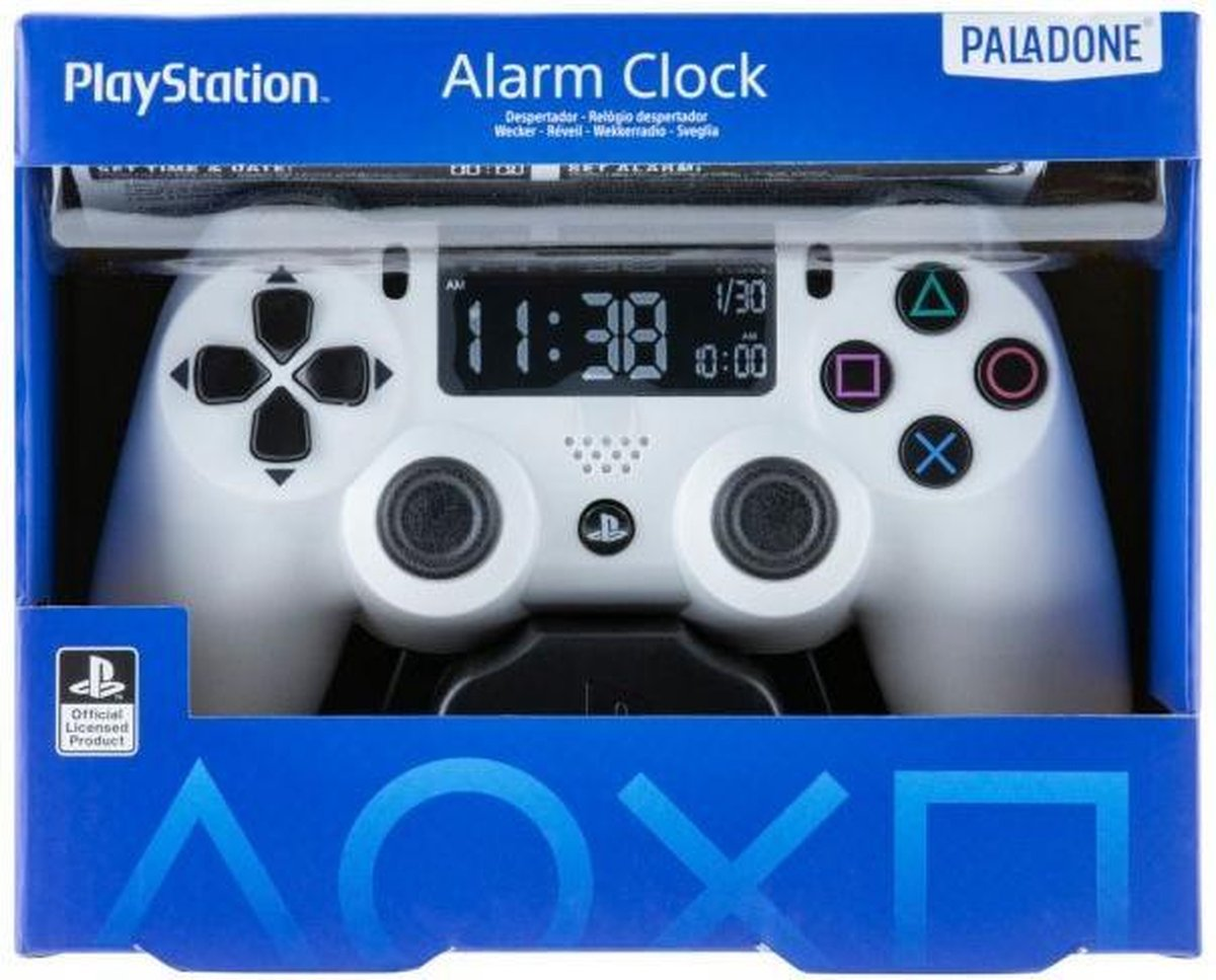 Playstation: White Controller Alarm Clock PS5