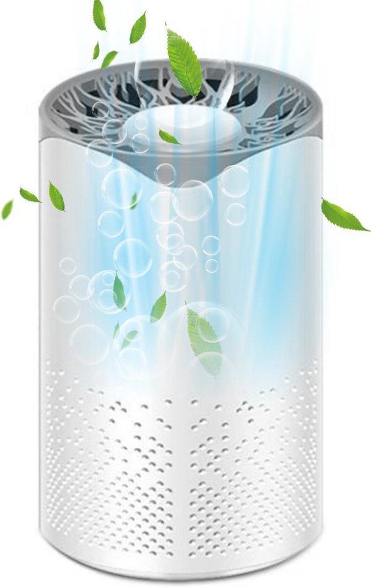 Portable Luchtreiniger 2021 - Met Aroma Diffuser - Neutraliseert Virussen en Bacteriën - 3 Fase HEPA13 - Mini Car UVC Air Purifier